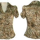 Leopard Runch Sleeve Blouse