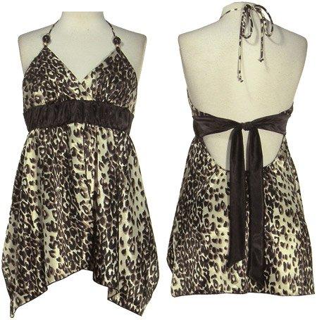 Halter Tie Back Cheetah