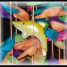 "Floating Fish Colorful Shell Wind Chimes - 15"" Long - #244"