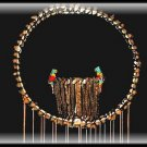 "Hearts & Birds Shell Wind Chimes - 24"" Long - #216"