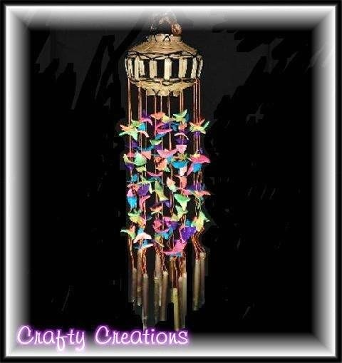 "Bright & Colorful Shell Wind Chimes - 12"" Long - #212"