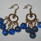 Chandelier Blue Glass Earrings