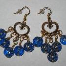 Chandelier Blue Glass Earrings