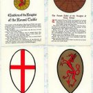 Set of 4 Postcards Knights of the Round Table King Arthur Sir Galahad