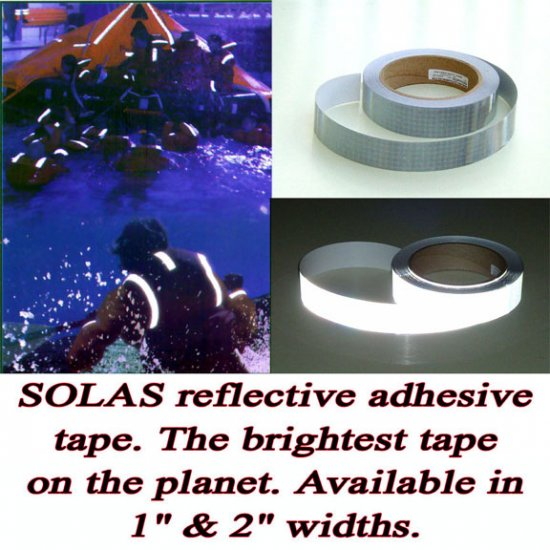 """SOLAS Marine Safety Tape 1"""" 20ft"""