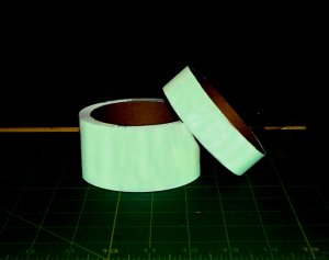 "Glow in the Dark Tape 1"" 10ft"