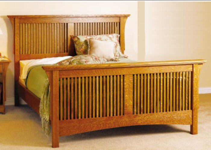 Mission Style Bed