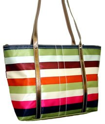 HAMPTON WEEKEND STRIPE TOTE HANDBAG NWT