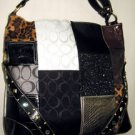 NWT DESIGNER INSPIRED PATCHWORK TOTE SHOULDER BAG
