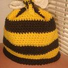 Spring Girls Crochet Bumblebee Hat