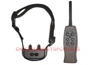 Rechargeable remote dog training shock collar for 1 dog