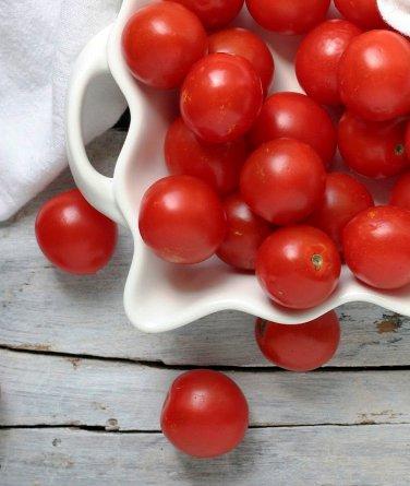 Organic Heirloom Tommy Toe Cherry Tomato Solanum lycopersicum - 35 Seeds