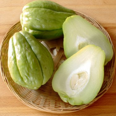 Organic Chayote Mirliton Pear Squash Sechium edule - 2 Fresh Fruits Seeds