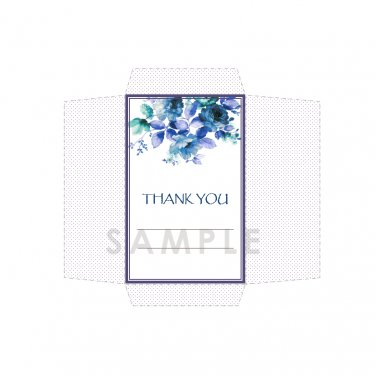 DIY Seed Envelope Printable Template Thank You Blue Red Purple