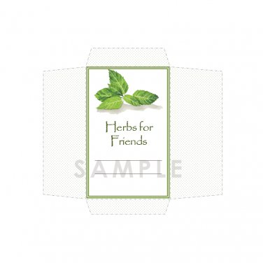DIY Seed Envelope Printable Template Herbs for Friends