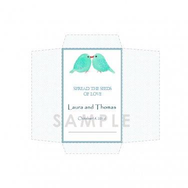 DIY Seed Envelope Printable Template Wedding and Anniversary