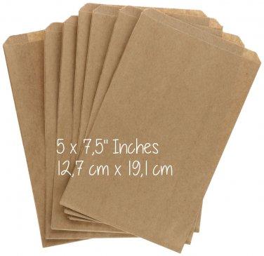 "30 Medium 5"" x 7.5"" Flat Brown Paper Envelopes for Seeds or Cards"