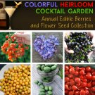 Colorful Annual Heirloom Cocktail Garden Seed Collection 6 Varieties