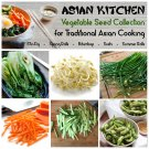 Asian Kitchen Garden Organic Vegetable Seed Collection - 6 Varieties
