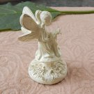 Miniature Sitting Garden Fairy Pixie Figurine Ivory