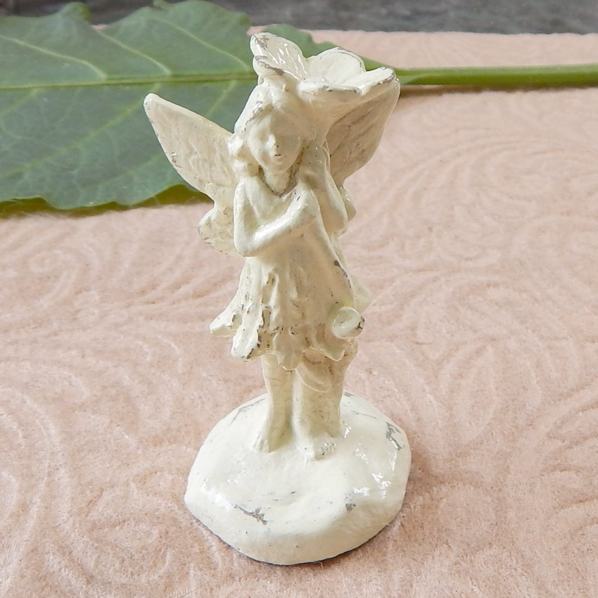 Miniature Standing Garden Fairy Pixie Figurine Ivory II