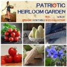 Patriotic Red White and Blue Heirloom Vegetable Seed Collection - 6 Varieties