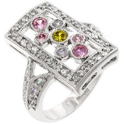 Sterling Silver CZ Fashion Ring
