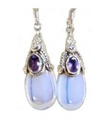 Opalescent Glass Earrings