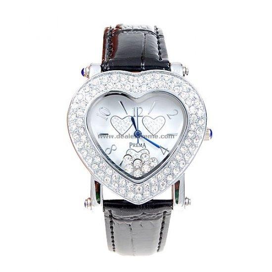 ON SALE: Crystal Encrusted Heart Watch