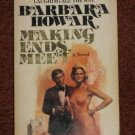 Making Ends Meet by Barbara Howar 1976 Paperback Romance Novel