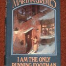 I Am the Only Running Footman Martha Grimes Book Club Edition Hardcover 1986 Mystery Thriller Book