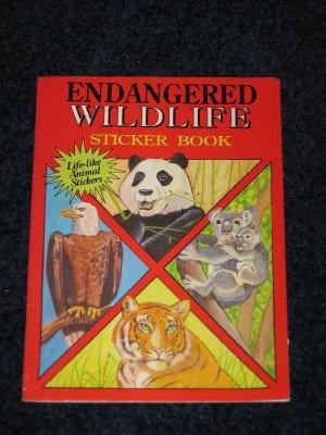 Endangered Wildlife Sticker Book for Children Softcover