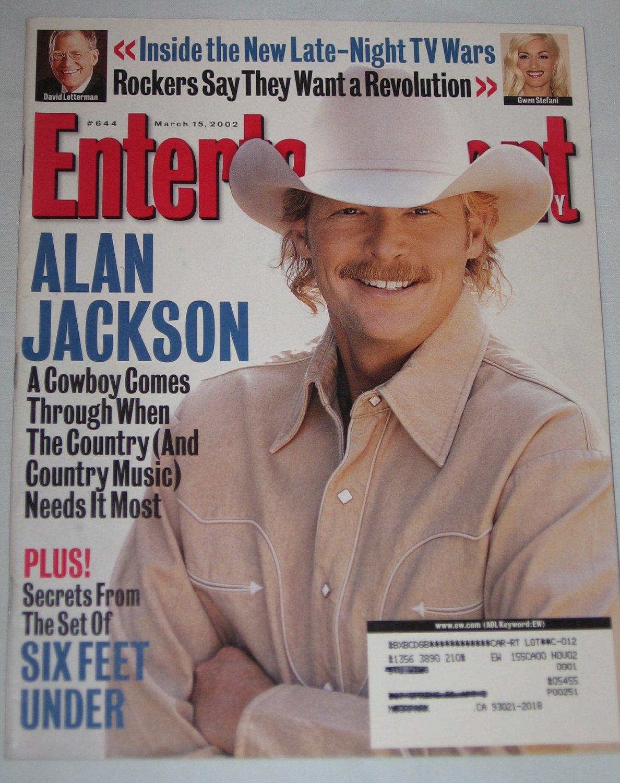 ENTERTAINMENT WEEKLY Magazine 644 Alan Jackson Gwen Stefani David Letterman March 15 2002