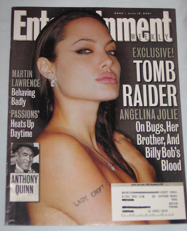 ENTERTAINMENT WEEKLY Magazine 600 Angelina Jolie Tomb Raider Anthony Quinn Martin Lawrence June 2001