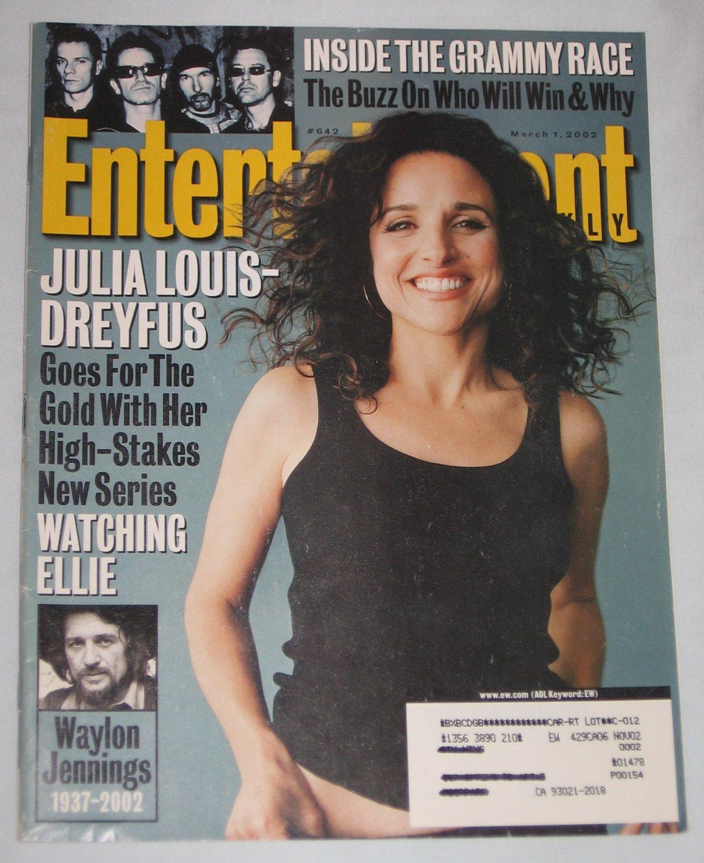 ENTERTAINMENT WEEKLY Magazine 642 Julia Louis-Dreyfus Michael Jackson Waylon Jenning March 1 2002