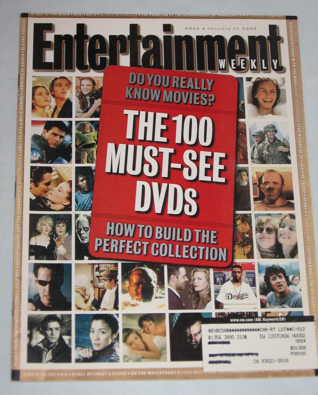 ENTERTAINMENT WEEKLY Magazine 634 Royal Tenenbaums Anthony LaPaglia Jay-Z David Lynch January 2002