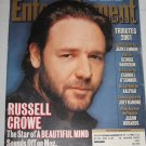 ENTERTAINMENT WEEKLY Magazine 633 Russell Crowe Lord of the Rings George Harrison January 2002