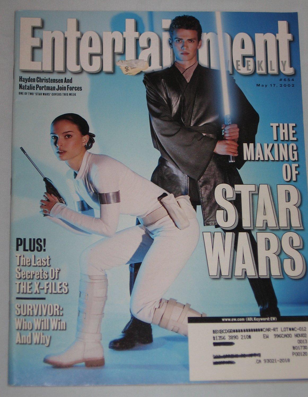 ENTERTAINMENT WEEKLY Magazine 654 Natalie Portman Hayden Christensen Star Wars X-Files May 17 2002