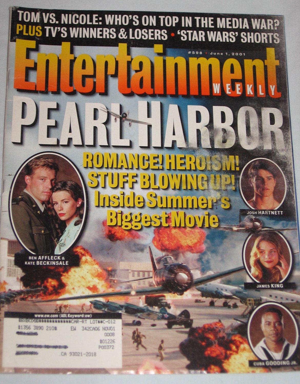 ENTERTAINMENT WEEKLY Magazine 598 Pearl Harbor Ben Affleck Kate Beckinsale Josh Hartnett June 1 2001