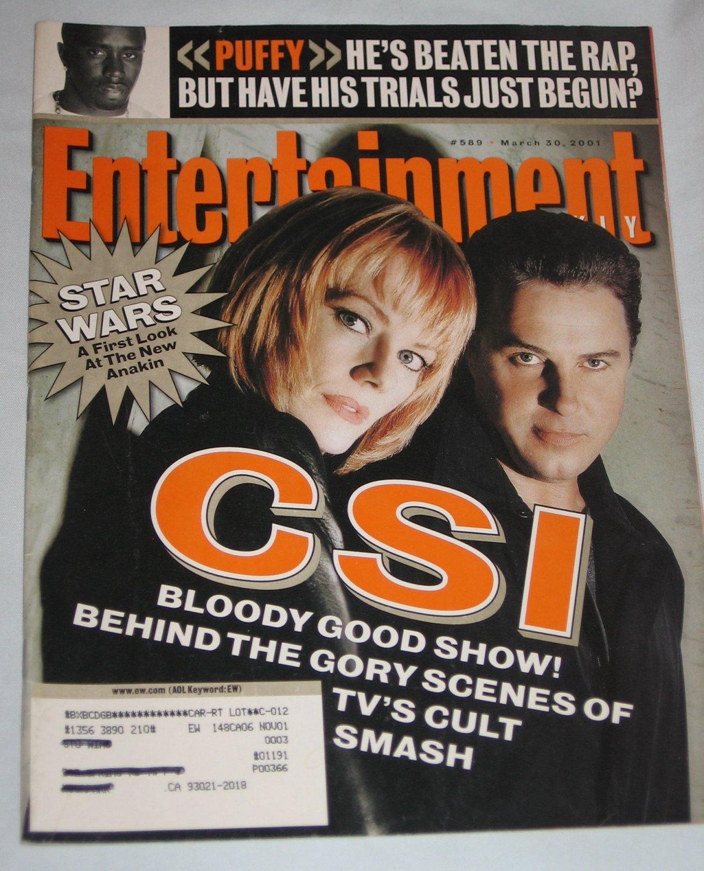 ENTERTAINMENT WEEKLY Magazine 589 Sean Puffy Combs Stars Wars CSI March 30 2001