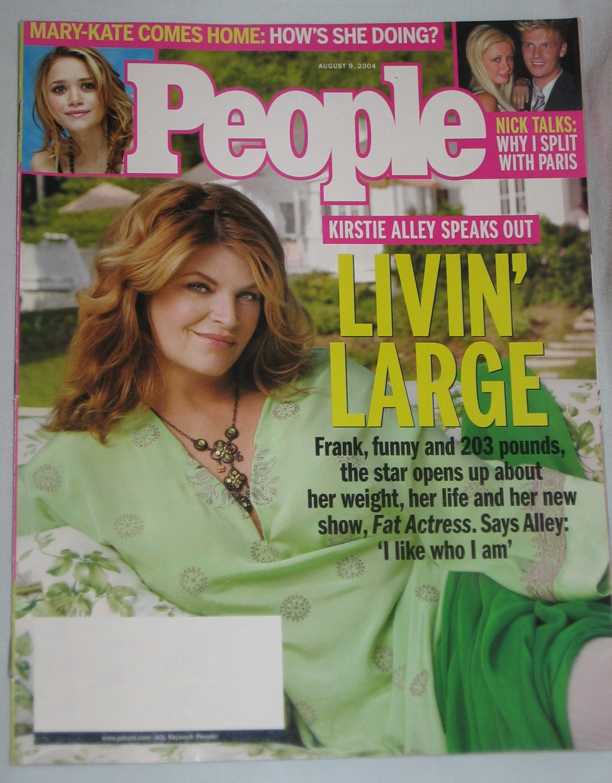 PEOPLE MAGAZINE August 2004 Kirstie Alley Mary-Kate Olsen Cameron Diaz Jennifer Lopez