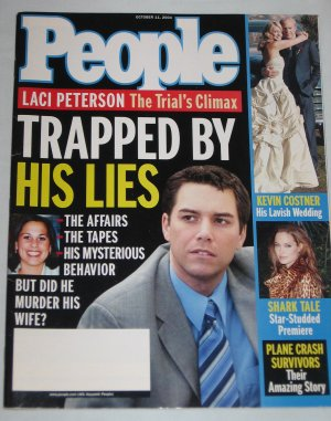 PEOPLE MAGAZINE October 2004 Laci Peterson Trial Kevin Costner Wedding Brad Pitt