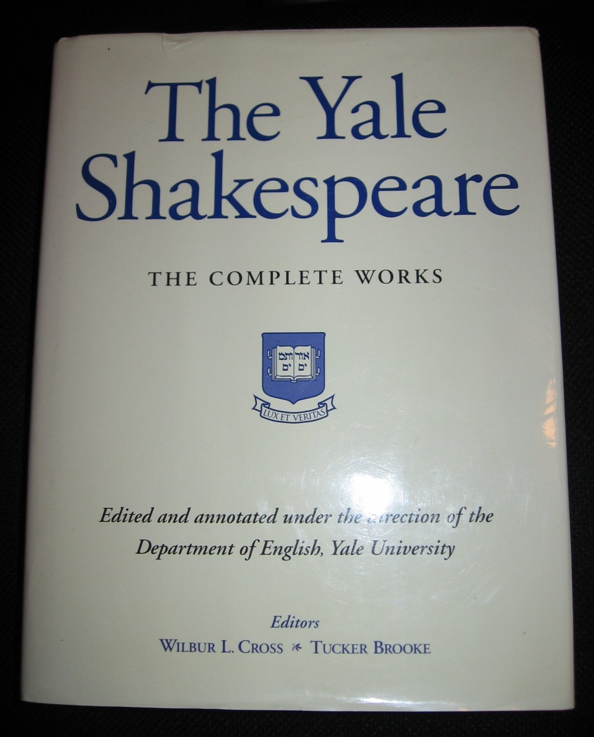 YALE SHAKESPEARE COMPLETE WORKS by Wilbur Cross Tucker Brooke 1993 Hardcover Barnes Noble Book