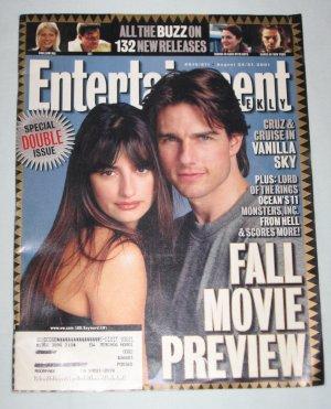 ENTERTAINMENT WEEKLY Magazine 2001 Special Double Issue 610 611 Tom Cruise Penelope Cruz