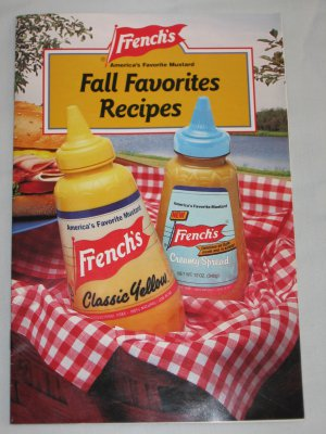 Frenchs Mustard Fall Favorite Recipes Cooking Booklet Dated 1991