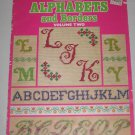 Leisure Arts Charted Alphabets and Borders Volume Two Needlepoint Craft Leaflet 57