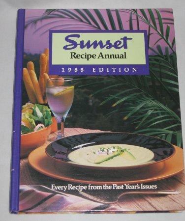 Vintage SUNSET RECIPE ANNUAL 1988 EDITION Hardcover Cookbook