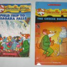 Lot of 2 Geronimo Stilton Books Cheese Burglar, Field Trip to Niagara Falls