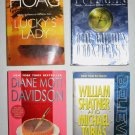 Lot of 4 Books Thriller Mystery Suspense Psychic Adventure Hoag Pullman Shatner Tobias