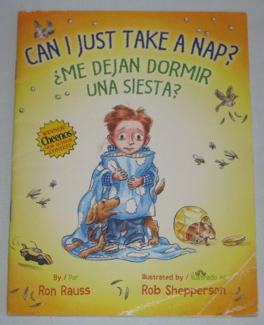 Can I Just Take a Nap? Me Dejan Dormir Una Siesta? by Ron Rauss Spanish English Book Cheerios Winner